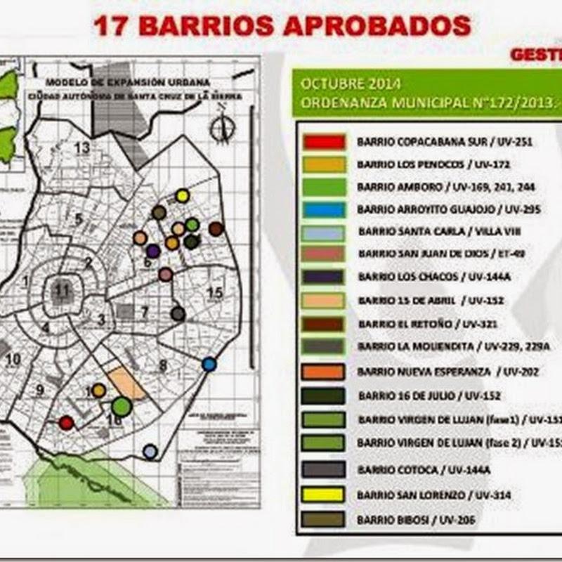 El municipio cruceño tiene 50 barrios sin regularizar