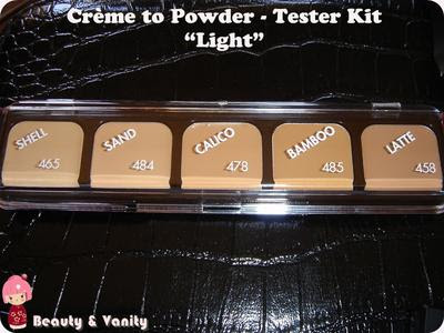 "Fondotinta Crème To Powder - Tester Kit in ""Light"""