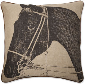 This Thomas Paul thoroughbred horse pillow can work with your decor anytime of year. (velocityartanddesign.com)