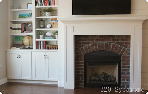 fireplace and built-ins | 320 * Sycamore