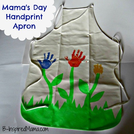 Mother's Day Handprint Apron 1