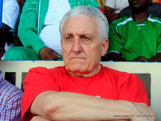 – Robert Nouzaret, entraîneur de l'équipe nationale de la RDC ( les Léopards) Radio Okapi/Ph. John Bompengo