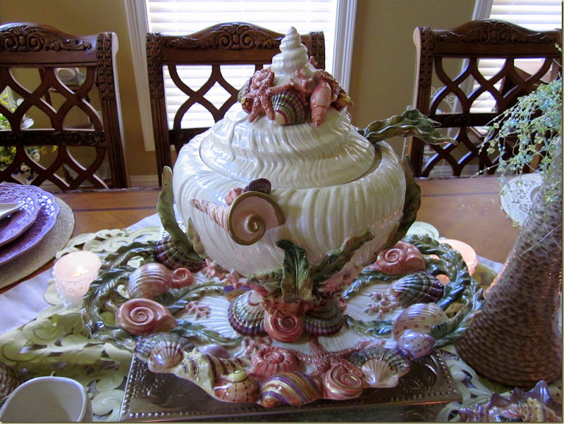 front of tureen