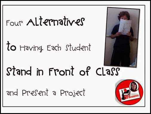 Top 10 Blog Posts from Raki's Rad Resources of 2014 - alternatives to presenting in front of class