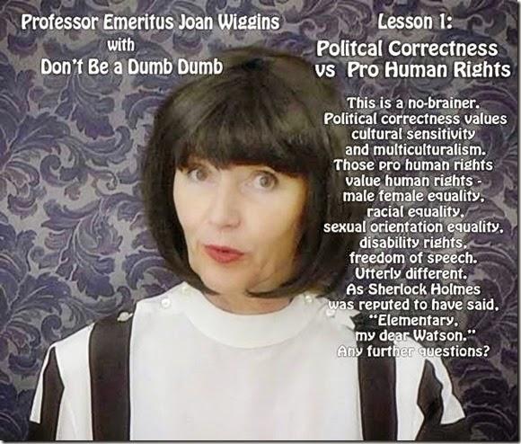 Joan Wiggins - PC vs Pro-Human Rights promo