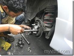 Tukar bearing tayar dengan ABS-myvi-6