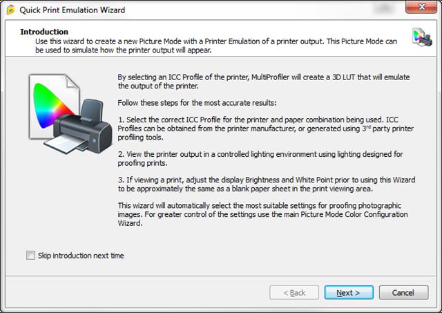NEC Quick Print Emulation Wizard