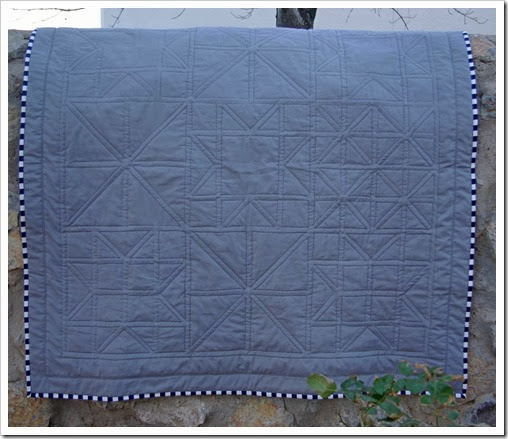 Quilting on Pinwheels and Stars Quilt