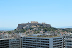 The view from the Grande Bretagne Hotel in Athens.