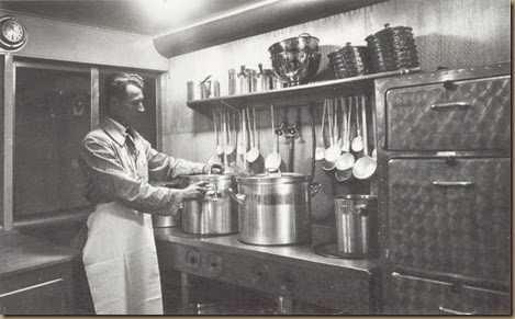 Balla in Hindenburg kitchen