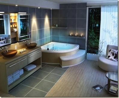Baños Modernos con Tina7