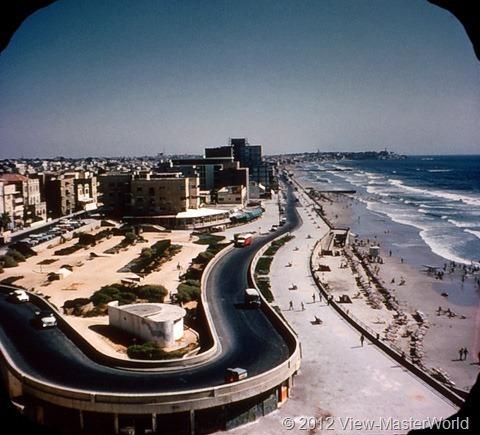 View-Master Modern Israel (B224), Scene 1: Tel Aviv and Mediterranean