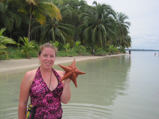 Heather at Starfish Beach, Bocas del Toro, Panama