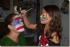 face painting mommy