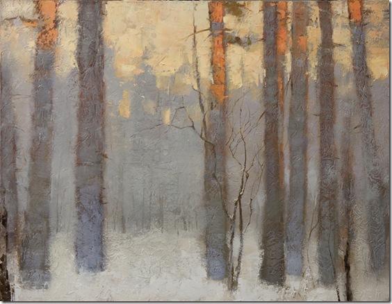 puesta de sol en invierno-Alexander-Zavarin-ENKAUSTIKOS