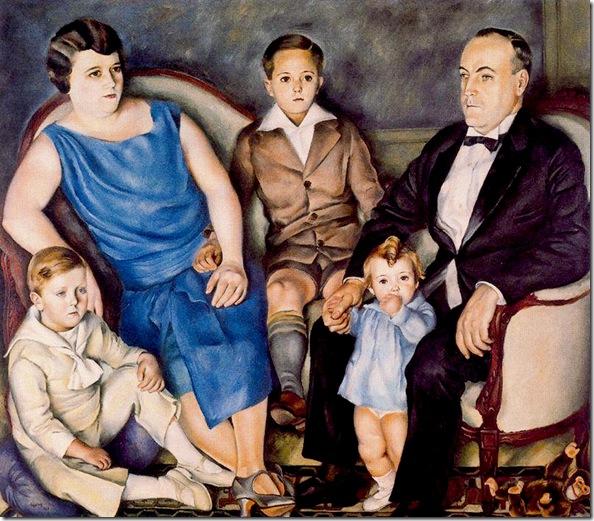 Josep de Togores i Llach -Retrato de la familia Mestre -1927