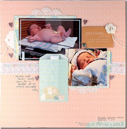 teddy newborn layout left side