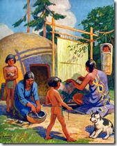 native-americans-weaving-and-making-pottery