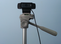 Logitech c920 webcam on tripod