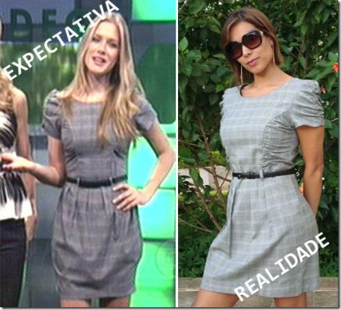 comparação do vestido da Fiorella Matheis com o vestido Moda de Novela