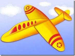 avion hecho con goma Eva