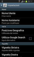 Screenshot of Voice Assistant (Italiano)