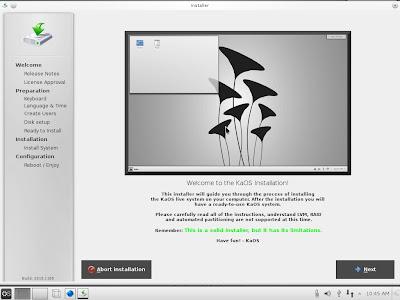 KaOS installer grafico