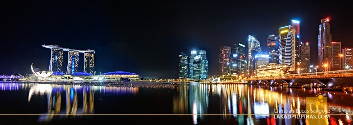 A Panorama of Singapore's Marina Bay