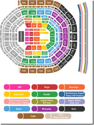 Arena ciudad de Mexico mapa de conciertos OV7