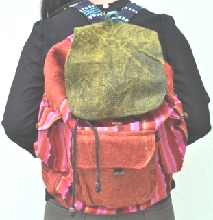 Hemp Back Pack Bag