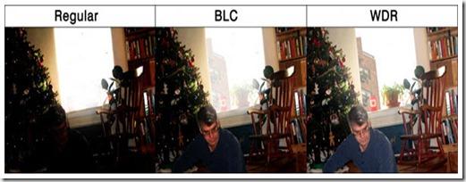 komparasi kamera reguler BLC WDR