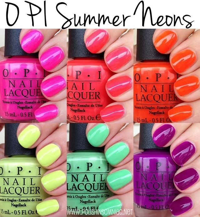 Why Does Neon Nail Polish Chip: Polish Insomniac: OPI Summer Neons ♥ Swatches And Review