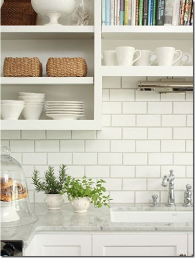 kitchen backsplash white subway tiles dark grey grout