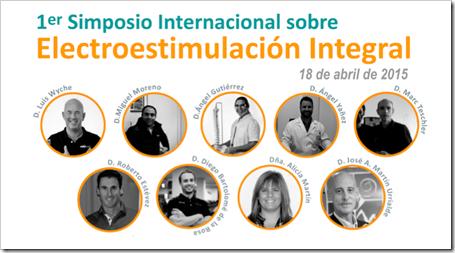 1er Simposio Internacional sobre Electroestimulación Integral, 18 abril 2015, Madrid, UPM.