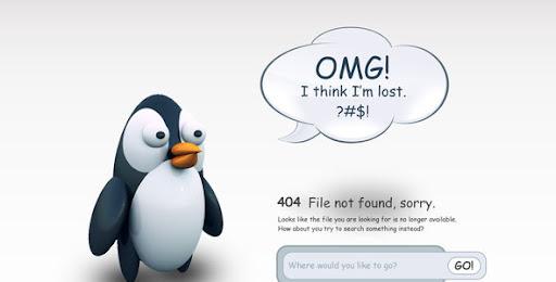 Premium 404 Html Templates 404 Pingu