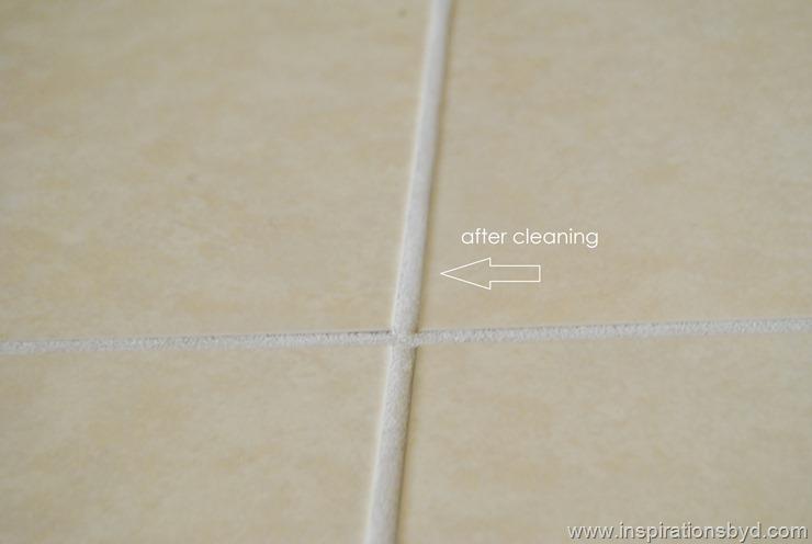clean floor grout