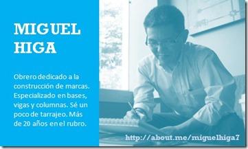 Miguel Higa Tarjeta Personal