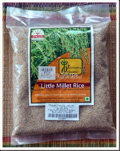 Pack of the Organic Millet I bought