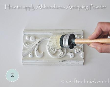 Abbondanza Antiquing Powder - stap 2