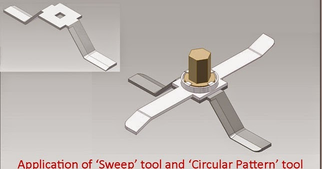 3D Solid Modelling Videos Application of lsquo Sweep rsquo tool and