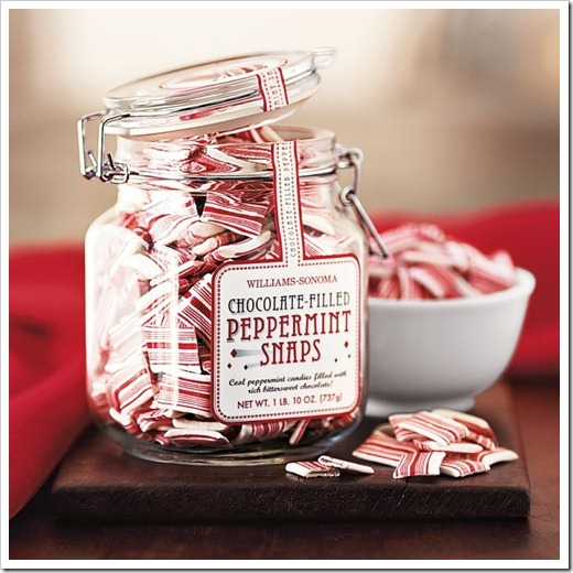 williams and sonoma chocolate filled peppermint snaps