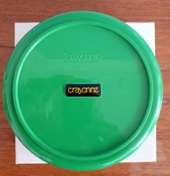 green Crayonne Input 6 container, underside