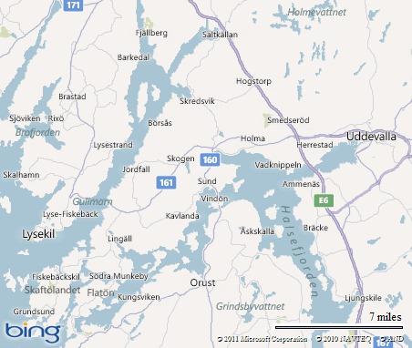 Ungefär 1 cm ovanför där det står Lingäll ligger Westgarden
