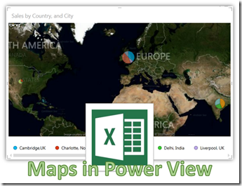 Creating Maps in Excel 2013 using Power View