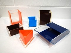 6 piece Lucite resin desk set