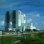 the NASA assembly building - as big as 4 empire state buildings in Cape Canaveral, Florida, United States