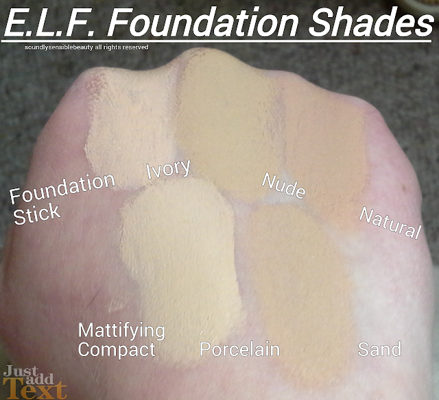 e.l.f. Moisturizing Foundation Stick Review & Swatches of Shades