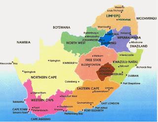 División política de Sudáfrica