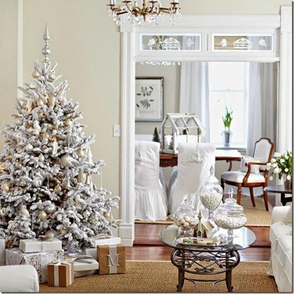 case e interni - Natale combinazione colori sgabby chic