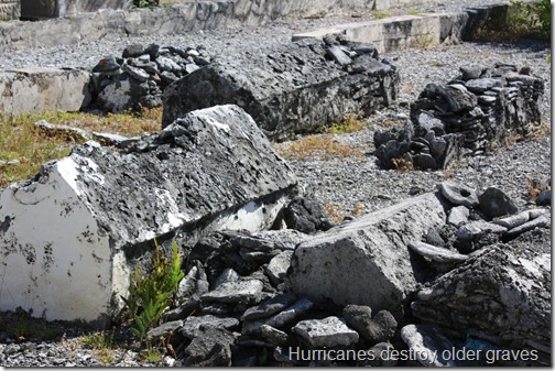 Hurricanes destroy older graves